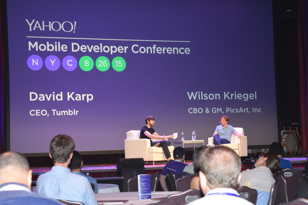 David Karp (Tumblr) and Wilson Kriegel (Picsart) - PHOTO: Calixtech News